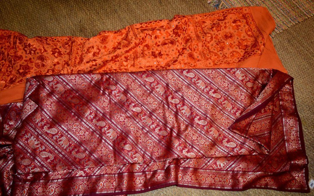 Colchas de seda bordadas